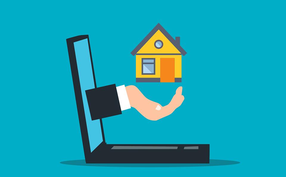 Computer House Illustration