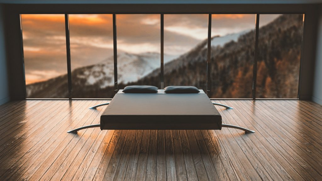 Bedroom Overlooking the Mountains