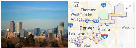 google maps of denver