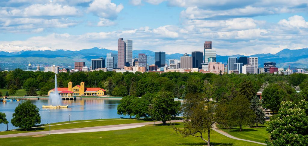 Denver Metro Real Estate Skyline Photo